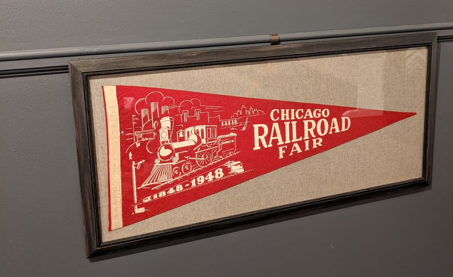 Chicago Railroad Fair framed by The Framemakers
