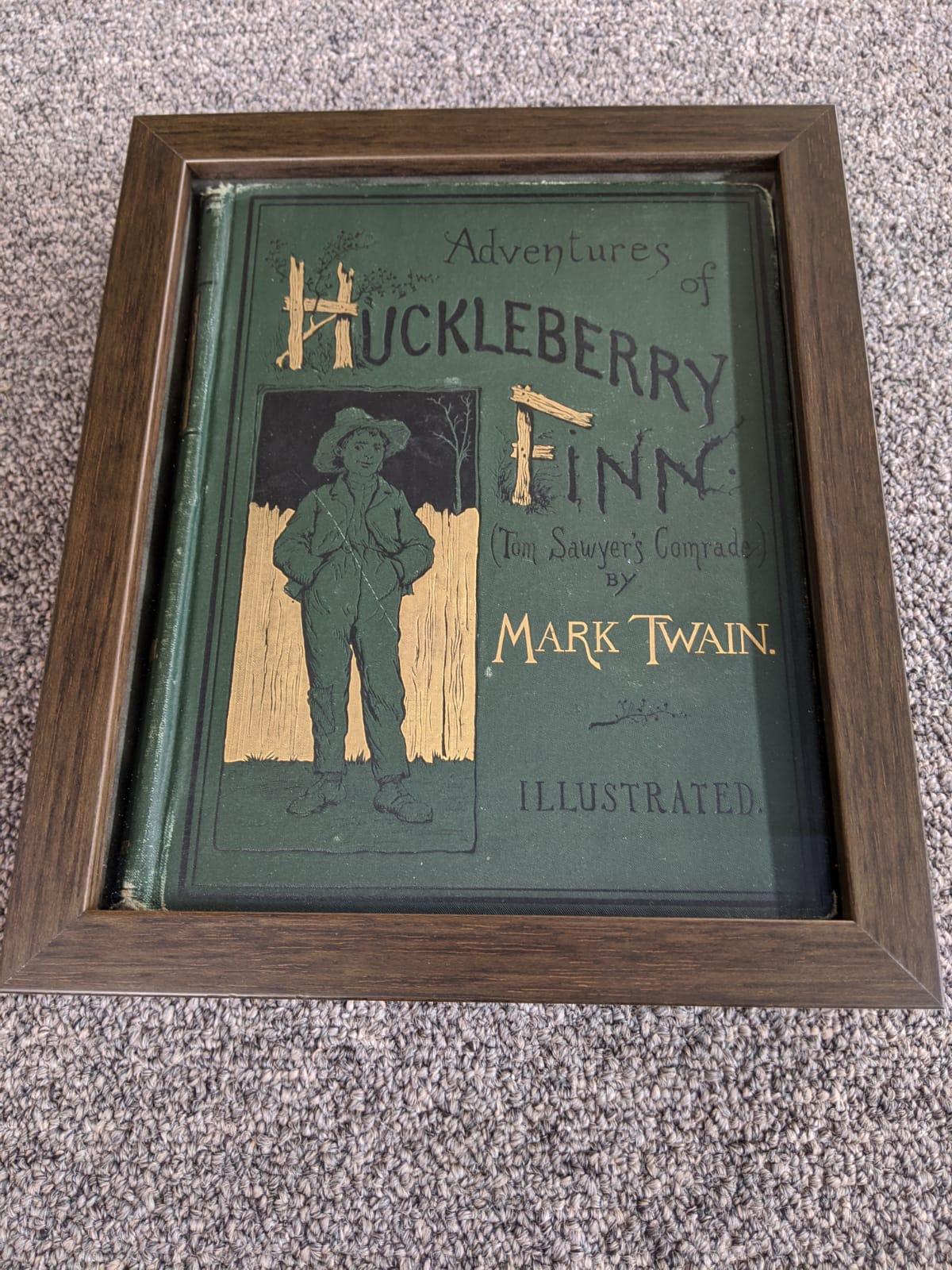 Huckleberry Finn framed