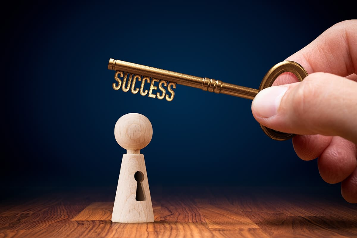 A key showing success in business.