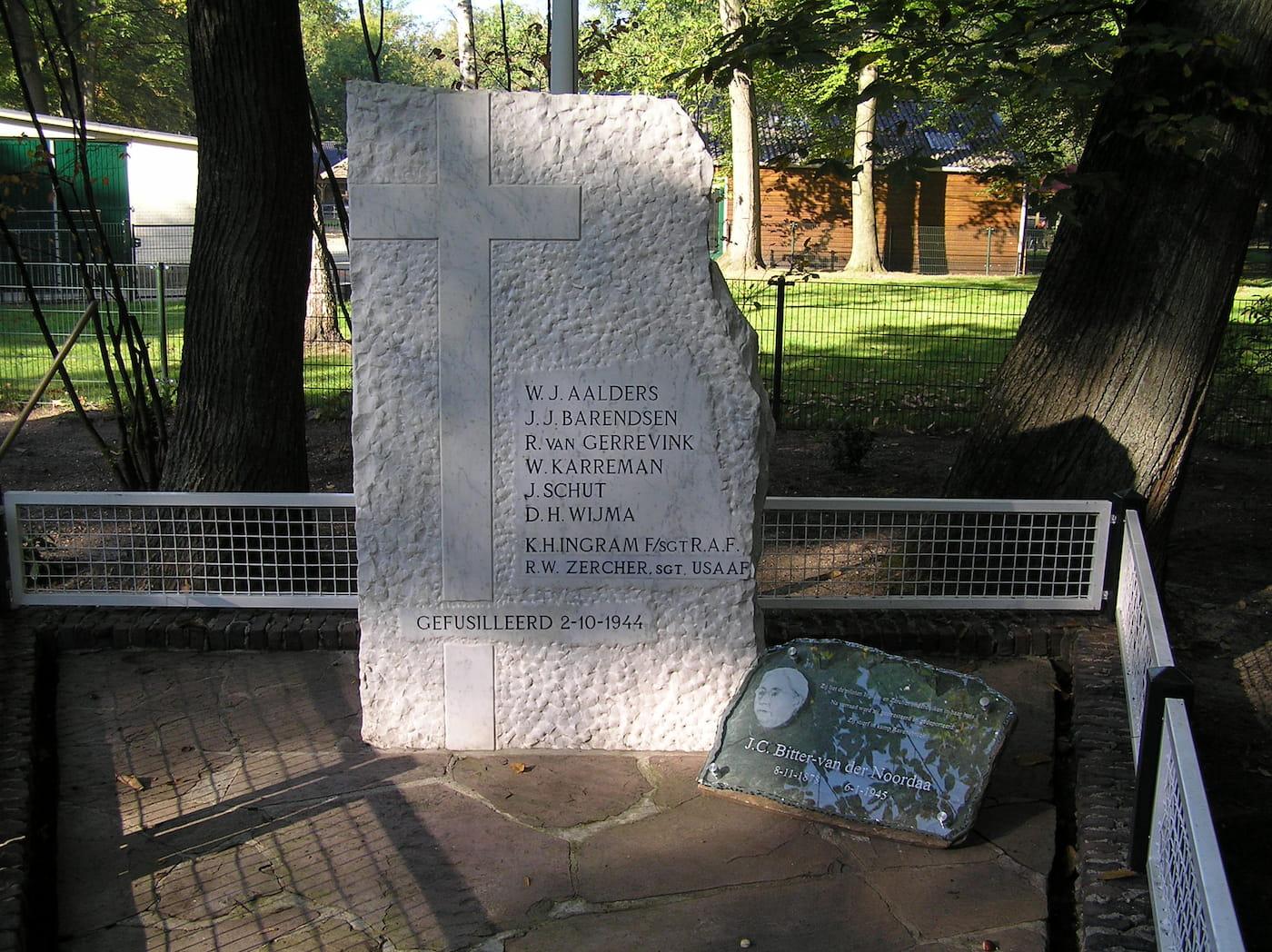 Gedenkteken 2 oktober 1944, Groot Schuylenburg