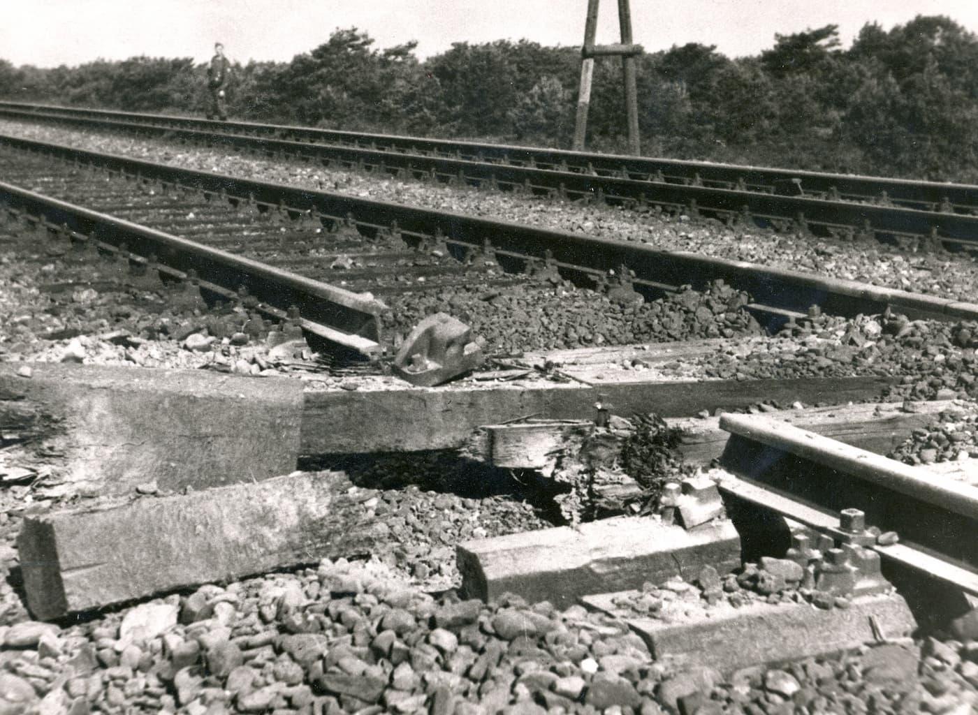 Sabotage aan het spoor
