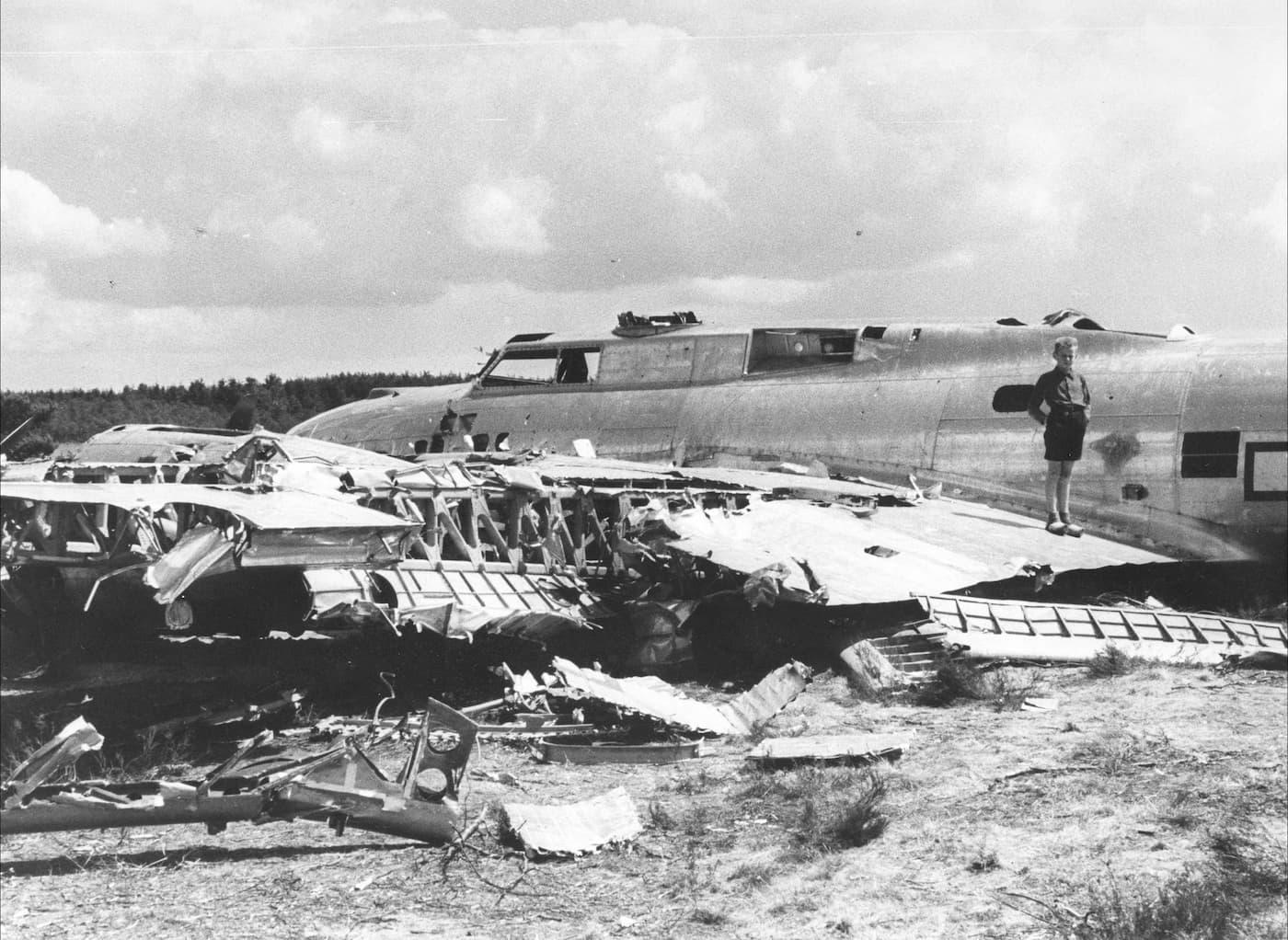 B-17 Flying Fortress gecrasht bij Nieuw Milligen