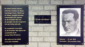 Plaquette Frank Bijnen