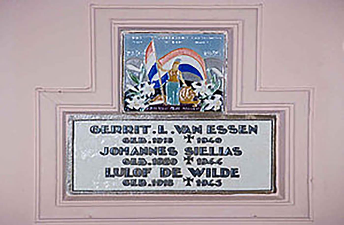 Gedenktegel kapel Hoog Soeren