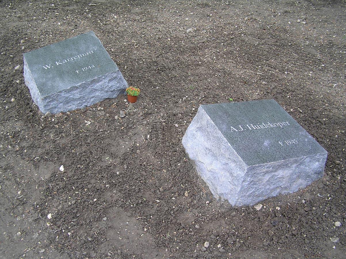 Twee van de stenen