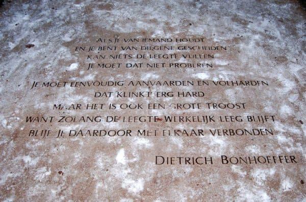 gedicht Bonhoeffer (foto Jelle Reitsma)