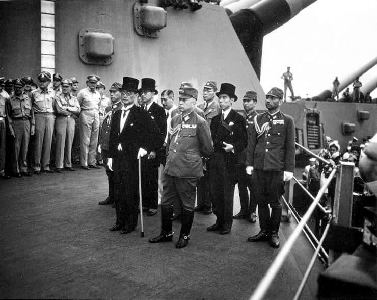 Japanse capitulatie: de delegatie