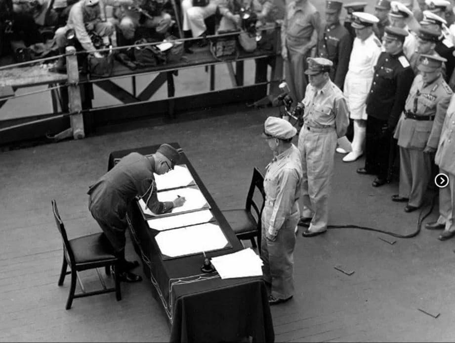 Japanse capitulatie: de ondertekening