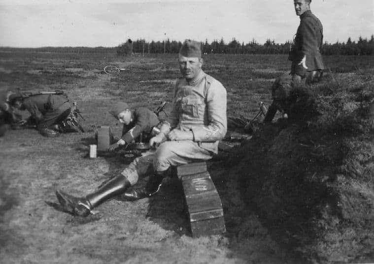 reserve tweede luitenant (foto familie de Bruijn)
