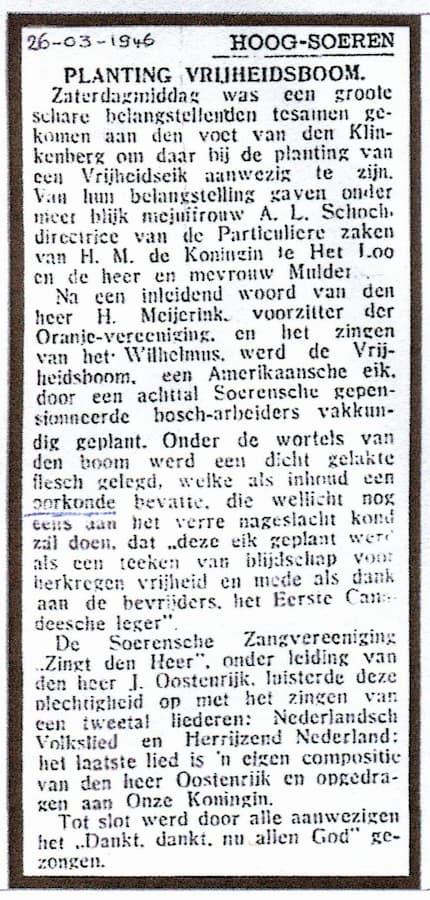Nieuwe Apeldoornsche Courant van 26 maart 1946