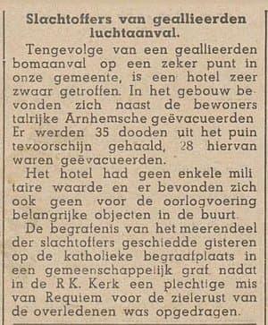 Nieuwe Apeldoornsche Courant 14 december 1944