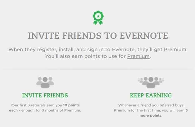 Evernote referral SaaS