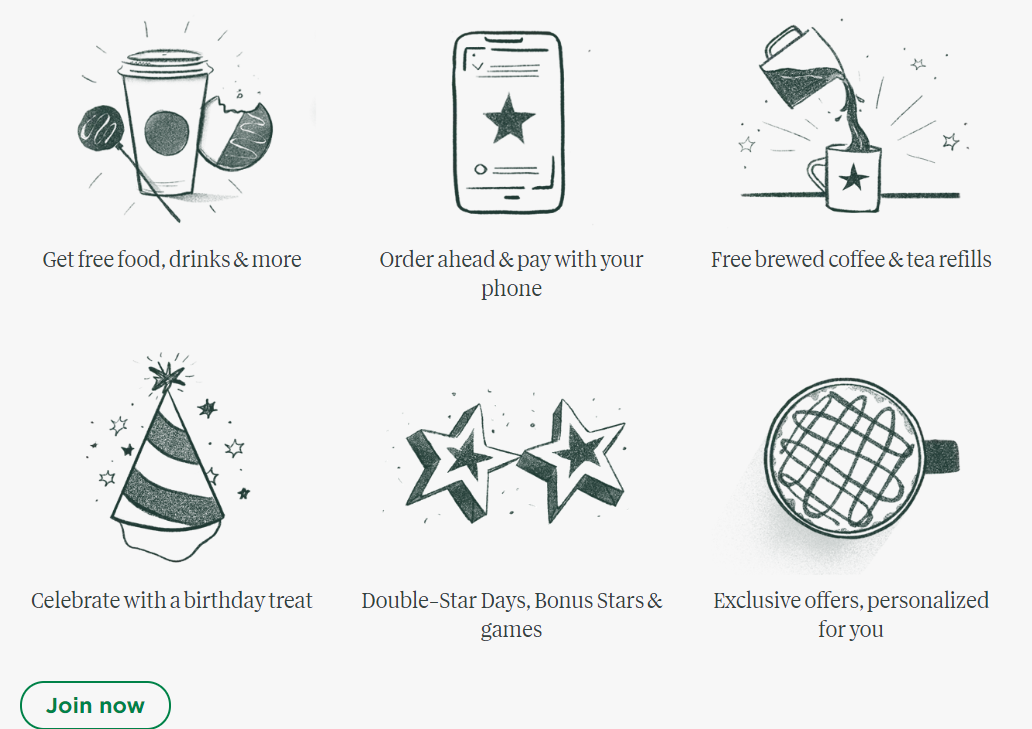 Starbucks loyalty program - opportunities to get extra points make it easier to join