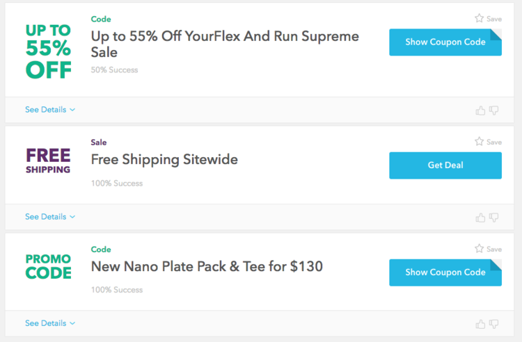 Reebok US/UK different offers - example of geolocation