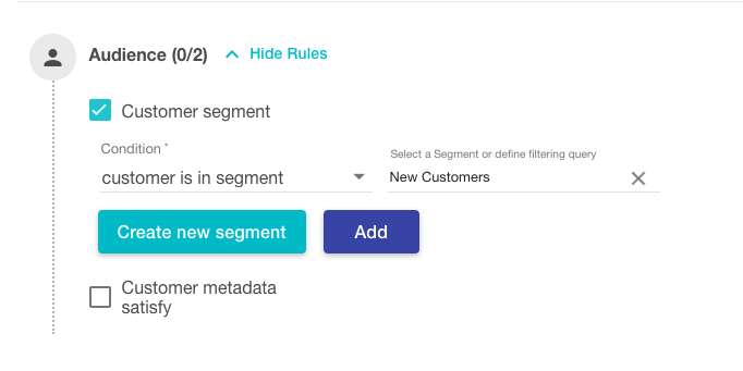 Audience based cart validation rules