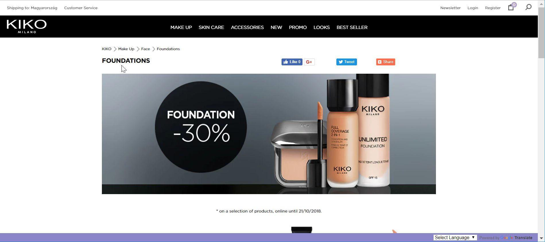 Kiko Milano Discount coupons