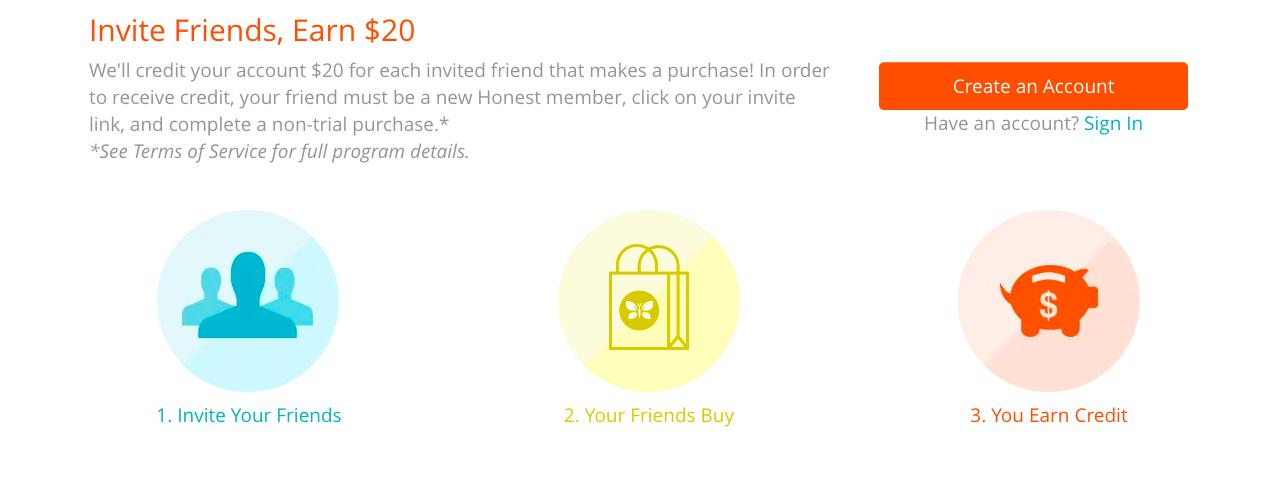 Honest referral program rules