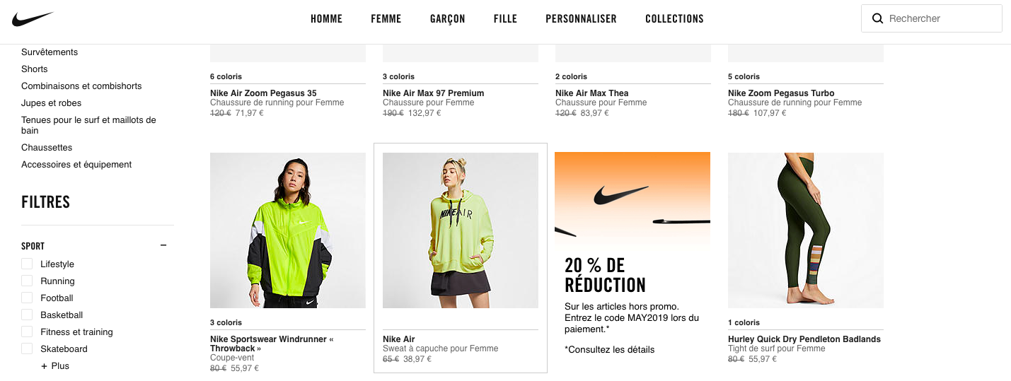 Nike D2C discounting