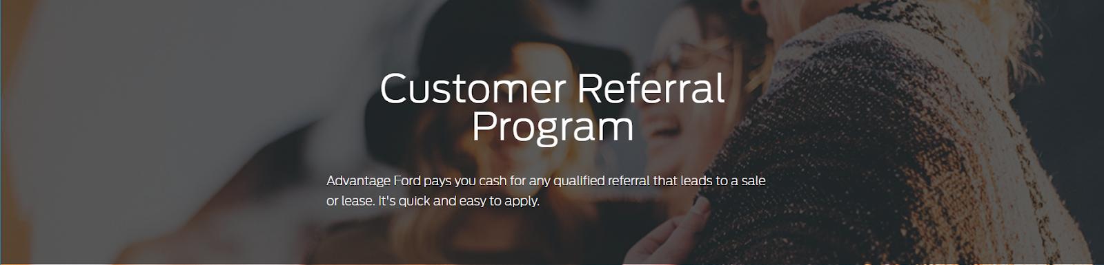 Ford referral program D2C