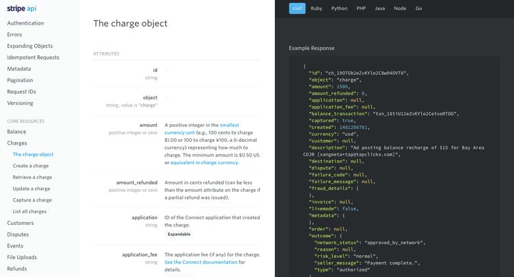 API and readme.io