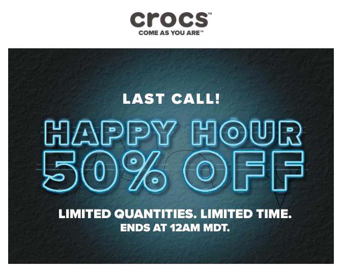 Crocs Happy Hours