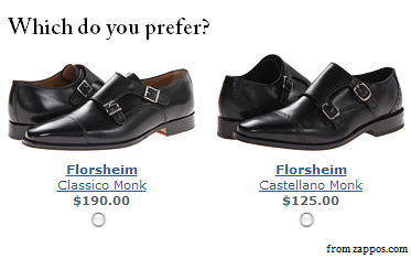 Two pairs of shoes - making a choice leads to the Ego Depletion Effect