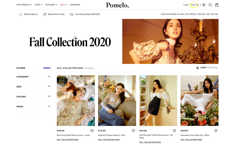 Pomelo Shop Site