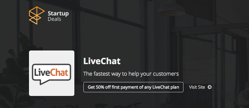 LiveChat Discount for first subscription