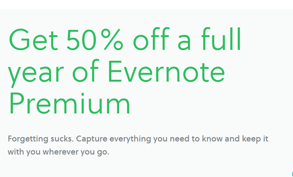 Promotion SaaS Evernote