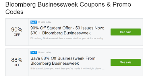 Bloomberg promotion SaaS