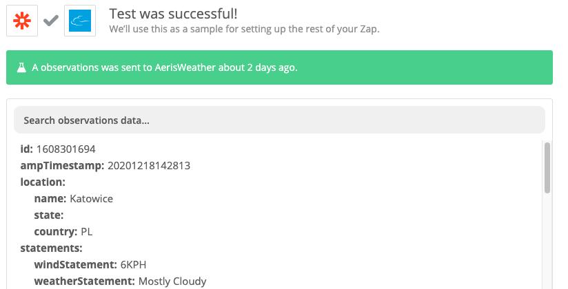 Test Aeris Weather
