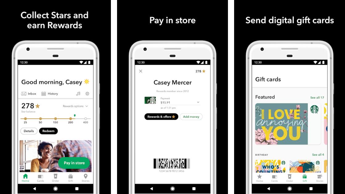 Starbucks Rewards Mobile app