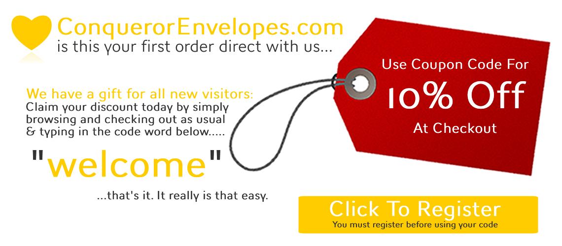 Conqueror Envelopes new customers campaign