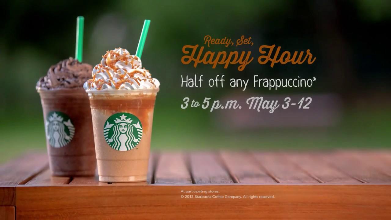 Starbucks happy hour campaign
