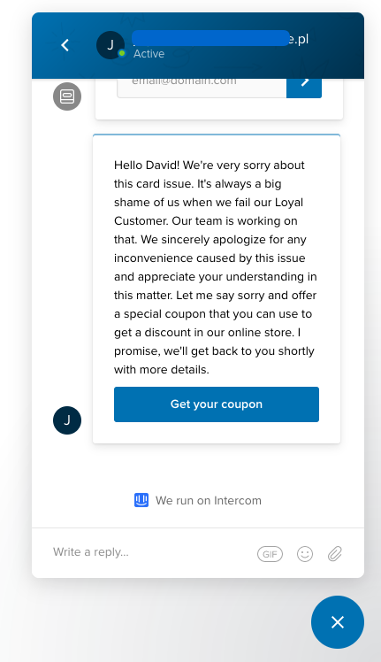 Live chat discounts that retain