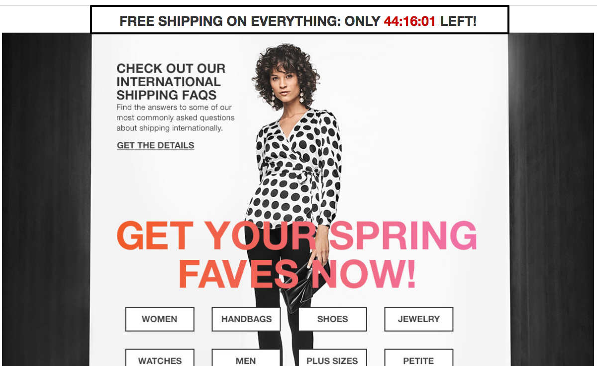 Free shipping campaign. Sales promotion example 7th