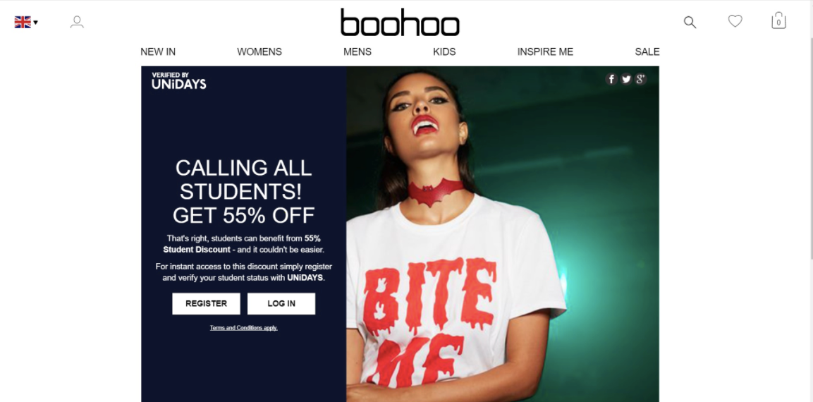 Boohoo Targeted Promotion