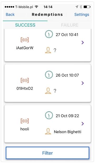QR codes mobile app