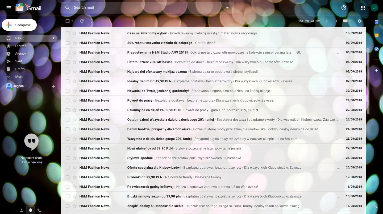 H&M inbox