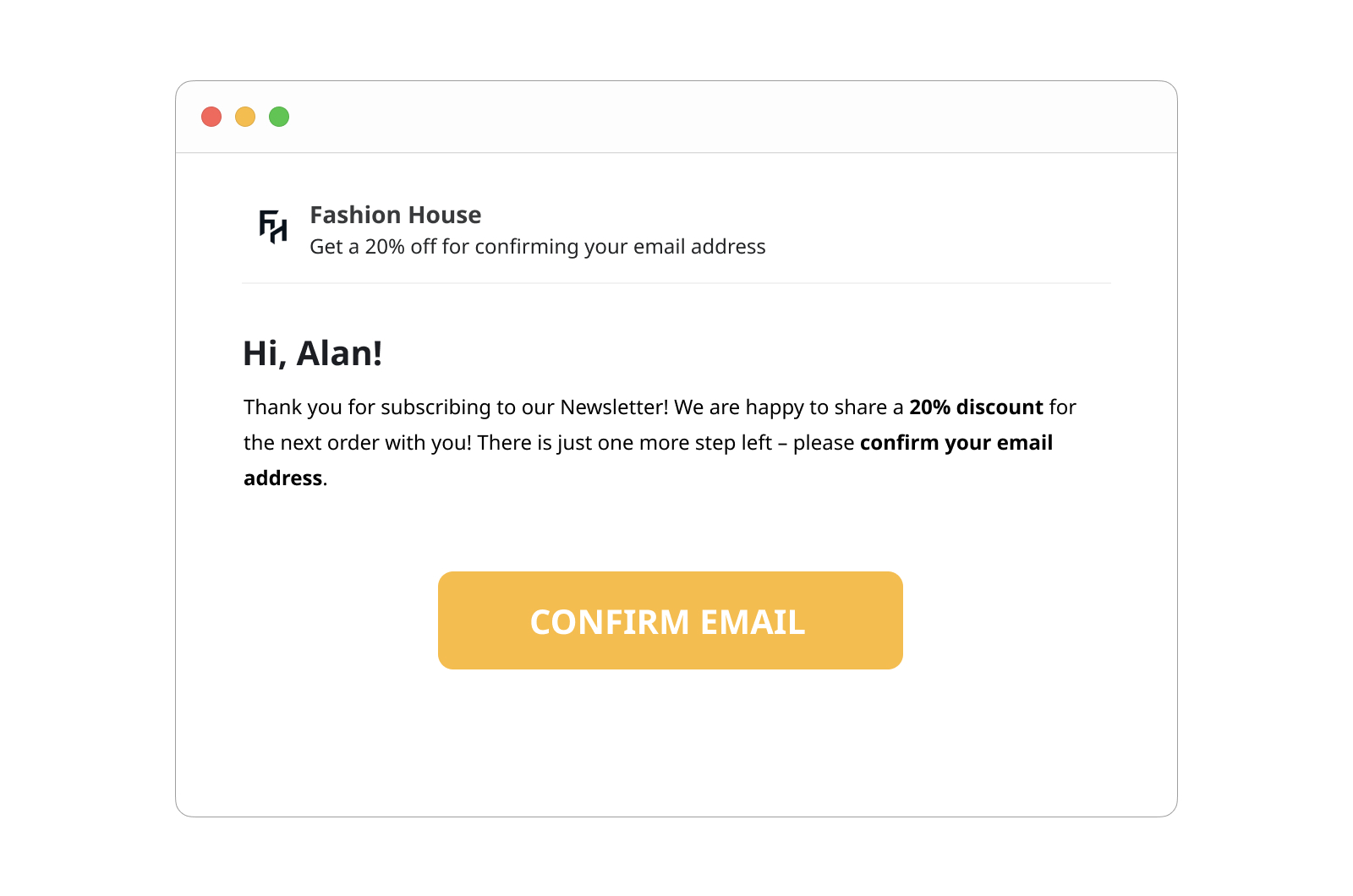 Discount Coupon for the Second Opt-in