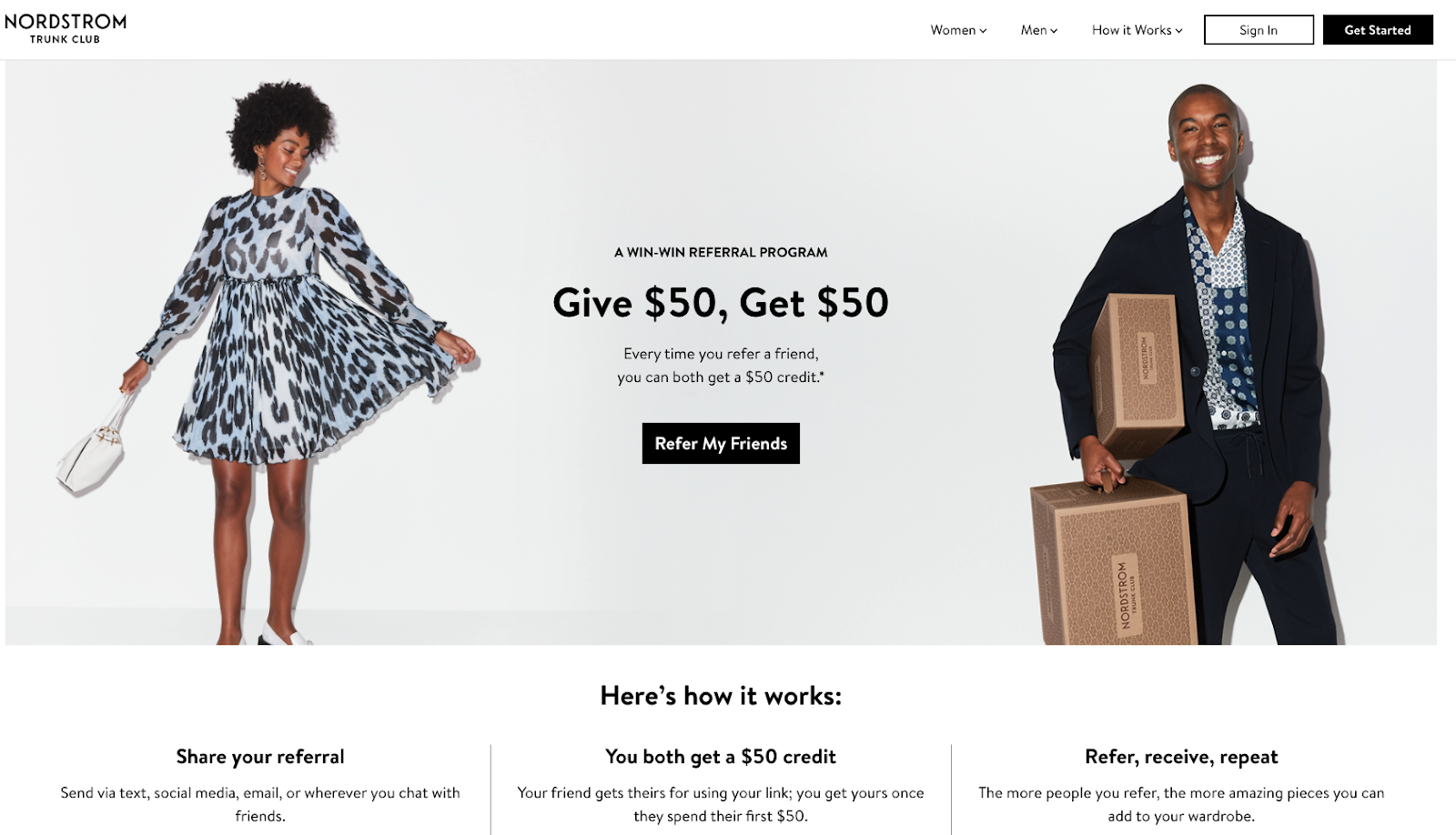Nordstron referral landing page