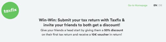 Taxfix referral website