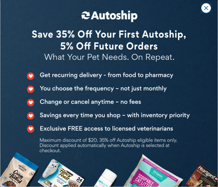 Promotion details for the auto-applied offer