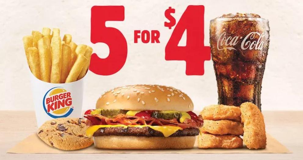 Fixed price bundle by Burger King screenshot