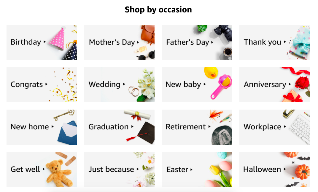 Amazon card templates