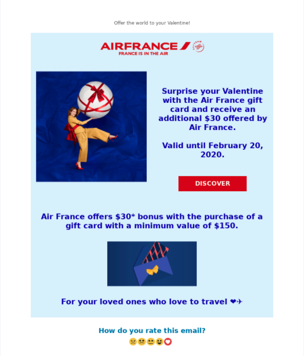 AirFrance gift cards