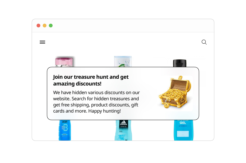 Treasure Hunt with Discount Coupons
