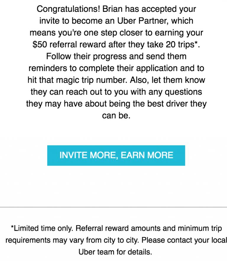 Example of uber push notification