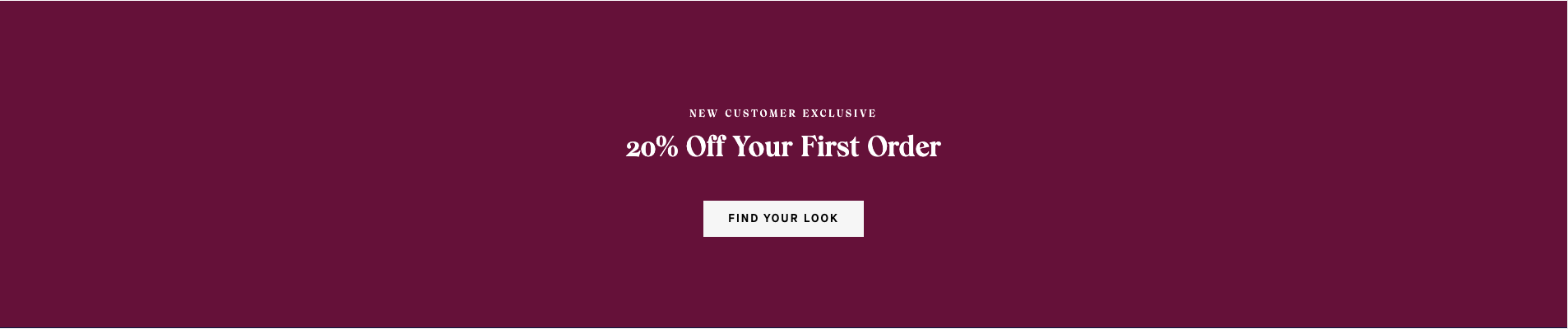 Example of an automatic discount for the first order