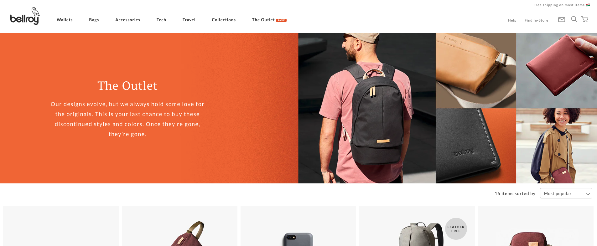 Bellroy outlet for automatic discounts